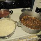 Haitian Food: Some Delicious Diri and Sòs pwa Legume at Grandma's Kitchen (Legumes with rice and beans)