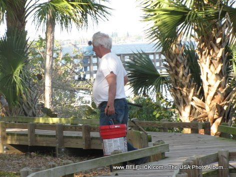 Fisherman At Castaway Point Park, Palm Bay Florida