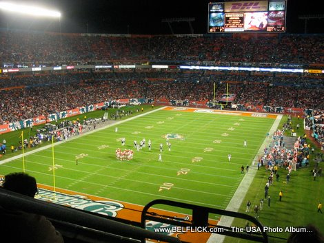 football game at sun life stadium