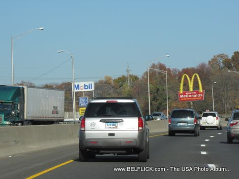 On The Highway, Mcdonalds, Mobil Gas Station