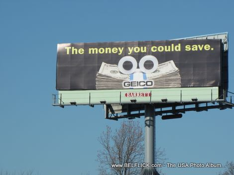 Geico Billboard, The Money You Could Save