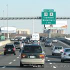Rush hour on the Connecticut Turnpike approaching Exit 27A, Trumbull, Waterbury