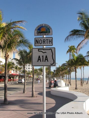 North A1A Street Sign Fort Lauderdale Beach Florida