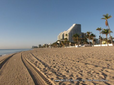 The Beautiful Sandy Beach In Ft Lauderdale