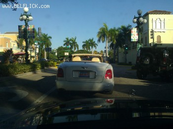 a bentley in downtown hollywood florida