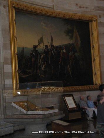 US Capitol Paintings Landing Of Columbus Painting