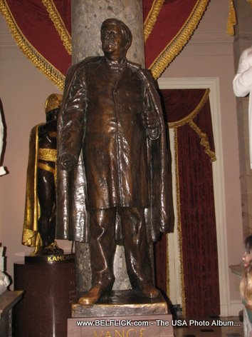 Zebulon Baird Vance Statue Inside The United States Capitol Building
