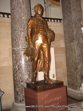 Henry Clay Statue Inside The United States Capitol Building