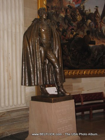 Andrew Jackson Statue Inside The United States Capitol Building