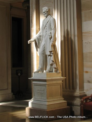 Abraham Lincoln Statue Inside The United States Capitol Building