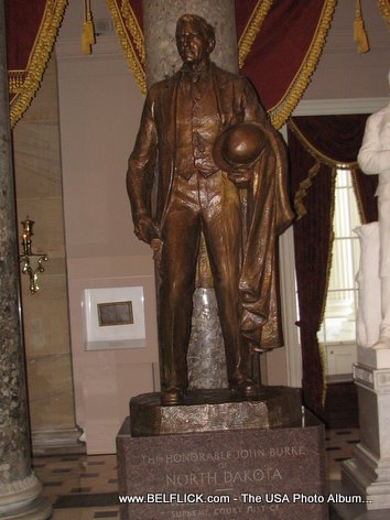 John Burke Statue Inside The United States Capitol Building