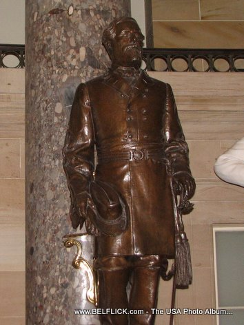 Robert E Lee Statue Inside The United States Capitol Building